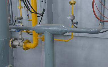 助燃空气管道变径结构